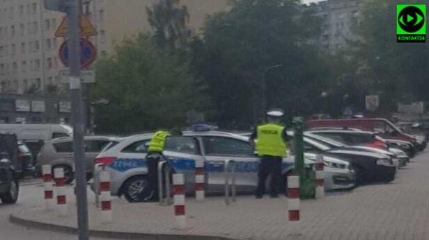 Akcja policji przy metrze Wawrzyszew internauta / Kontakt 24