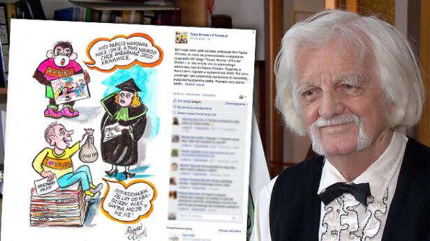 Papcio Chmiel z humorem skomentował walkę o plansze TVN24/ facebook.com