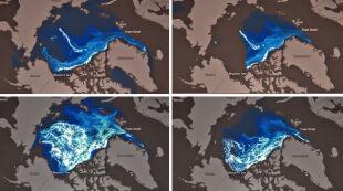 Zobacz szokujący film o kurczeniu się arktycznego lodu. 27 lat w niecałą minutę
