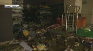 Woda zalała ulice francuskiego miasta Morlaix